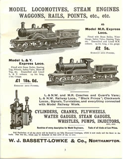 Picture of Bassett-Lowke Model Railway Catalogue