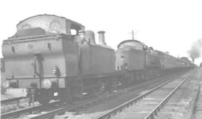 Picture of Jinty locomotives banking a train
