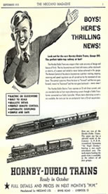 Picture of Hornby Dublo model train advert